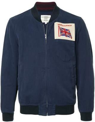 Kent & Curwen logo patch bomber jacket