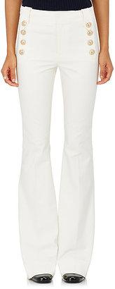 Derek Lam 10 Crosby Women's Stretch-Cotton Sailor Pants $385 thestylecure.com