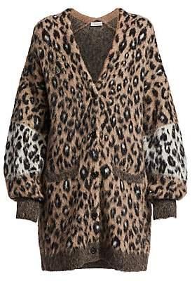 A.L.C. Women's Leone Leopard Oversized Cardigan Sweater