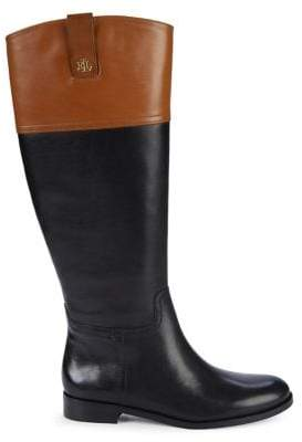Lauren Ralph Lauren Barkston Colorblock Tall Leather Boots