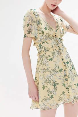 Keepsake Luscious Floral Ruffle Mini Dress