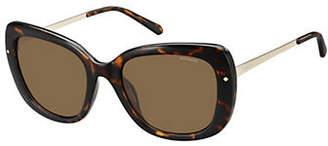 Polaroid 53mm Polarized Tortoise Square Sunglasses