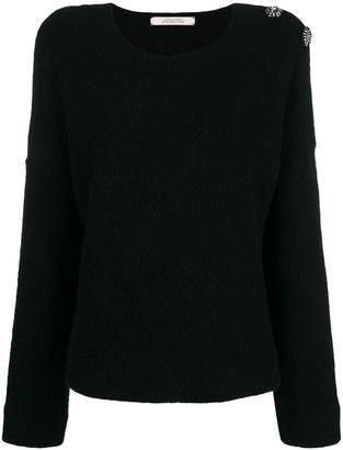 Schumacher Dorothee brooch embellished sweater