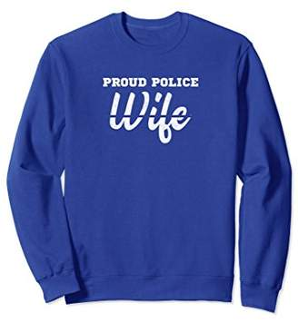 Proud Police Wife Thin Blue Line Back the Blue Sweatshirt