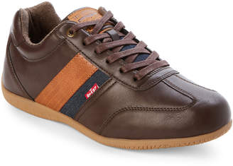 Levi's Brown Solano Burnish Low-Top Casual Sneakers