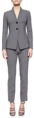 Armani Collezioni Straight Leg Trousers, Cloud Multi $645 thestylecure.com