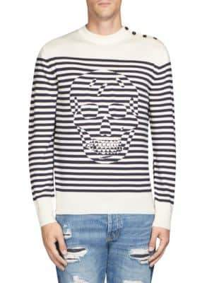 Alexander McQueen Stripe Skull Sweater
