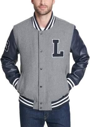 Levi's Levis Men's Mixed-Media Wool-Blend Varsity Jacket