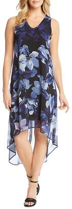 Karen Kane Floral-Print High/Low Hem Dress