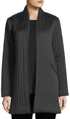 Eileen Fisher Sandwashed Silk Charmeuse Long Jacket