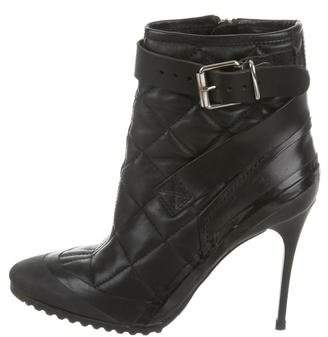 Burberry Quilted Leather High-Heel Boots