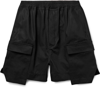 Rick Owens Layered Cotton-Canvas Cargo Shorts $710 thestylecure.com