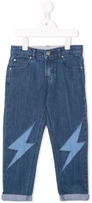 Stella McCartney lightning bolt jeans