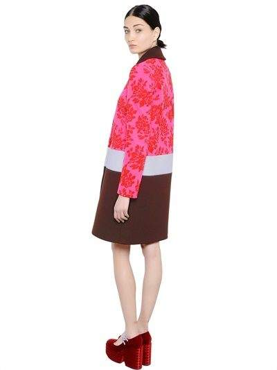 Mary Katrantzou Devore Jacquard & Wool Coat