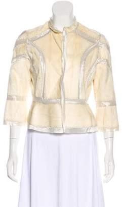 J. Mendel Long Sleeve Ponyhair Jacket