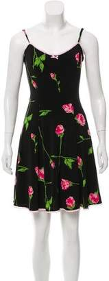 Betsey Johnson A-Line Floral Mini Dress