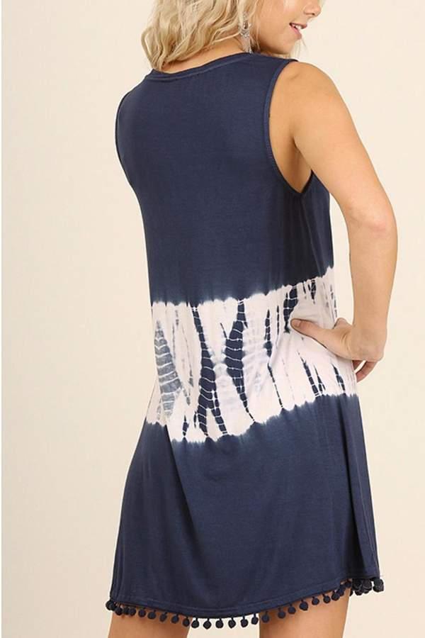 Umgee USA Sleeveless Tye Dye Dress