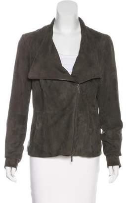 Vince Suede Zip-Up Jacket