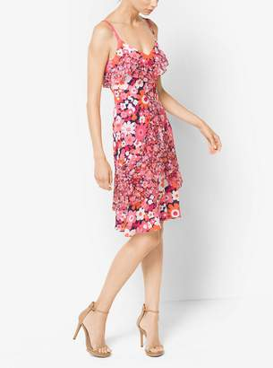 Michael Kors Floral Silk-Georgette Slip Dress