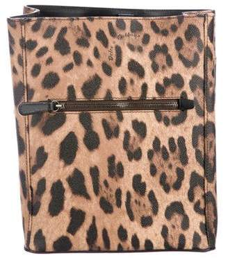 Dolce & Gabbana Animal Print Leather Backpack
