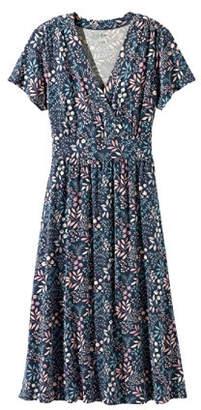 L.L. Bean (エルエルビーン) - サマー・ニット・ドレス、半袖 フローラル