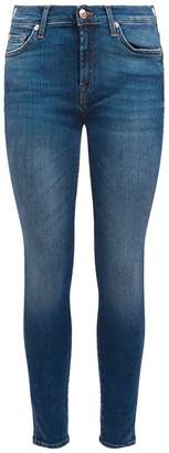 7 For All Mankind Embellished Skinny Slim Illusion Jeans