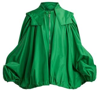 Valentino - Oversized Hooded Silk Jacket - Womens - Green