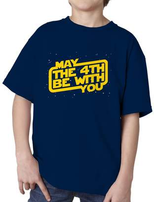 Star Wars Blue Bubble Tees BBT Kids Boys Girls Day, May The 4th Be with You T-Shirt Tee M