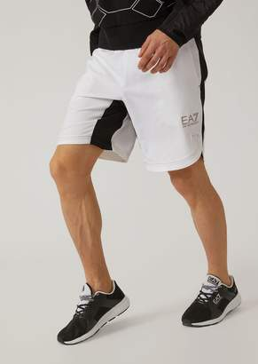 Emporio Armani Ea7 Breathable Ventus 7 Technical Fabric Tennis Shorts