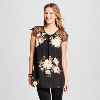 LORAMENDI Women's Floral Printed Eyelash Lace Tank $27.99 thestylecure.com