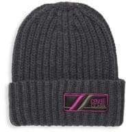 Roberto Cavalli Wool Ribbed Knit Hat