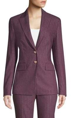 Escada Metallic Pinstripe Jacket