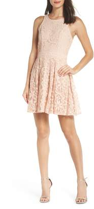 LuLu*s Racerback Lace Party Dress