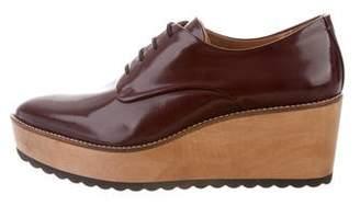 Whistles Leather Platform Oxfords