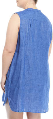 Nic+Zoe Plus Drifty Linen Tunic Dress, Plus Size
