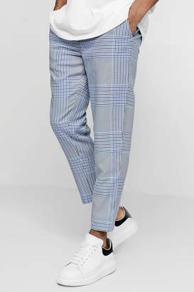 boohoo Smart Checked Cropped Jogger