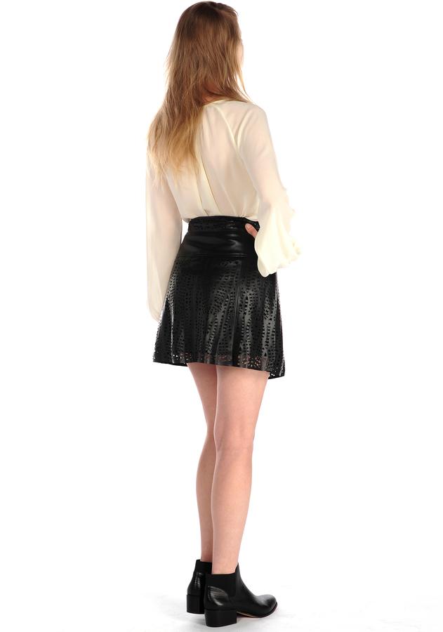 House Of Harlow Arla Zipper Skirt Black