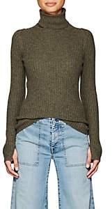 Nili Lotan Women's Sesia Cashmere Turtleneck Sweater - Army Green Melange
