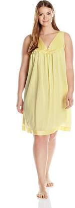 Vanity Fair Women's Plus Size Coloratura Sleepwear Short Gown 30807