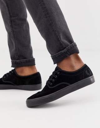 c3c8dfb8aae9ca Fred Perry Merton suede trainers in black