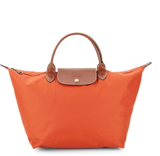 Longchamp Le Pliage Leather Weekender Bag