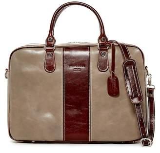 Persaman New York Salvatore Colorblock Italian Leather Briefcase