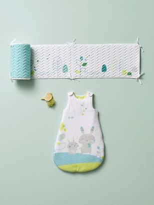 Vertbaudet Padded Cot Bumper, Breathable, Northern Dream Theme