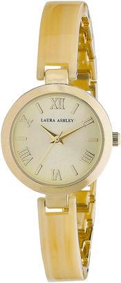 Laura Ashley Ladies Bone/Gold Resin Link Watch La31002Bn $345 thestylecure.com