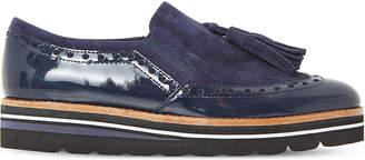 Dune Glorya suede tassel flatform loafers