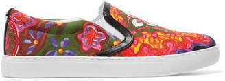 Sam Edelman - Pixie Faux Leather-trimmed Printed Canvas Slip-on Sneakers - Pink $70 thestylecure.com
