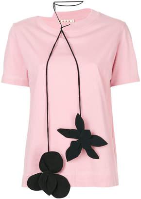 Marni floral choker T-shirt