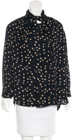 Isabel Marant Isabel Marant Tie-Accented Silk Tunic
