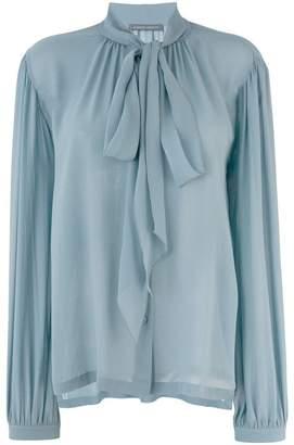 Alberta Ferretti pussy-bow blouse