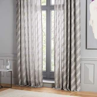 west elm Sheer Cotton Staggered Step Curtain